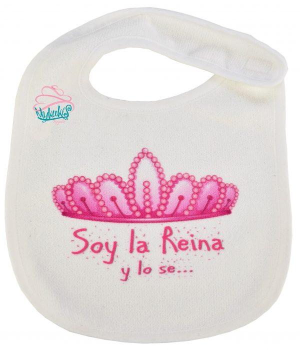 Babero Soy la Reyna!