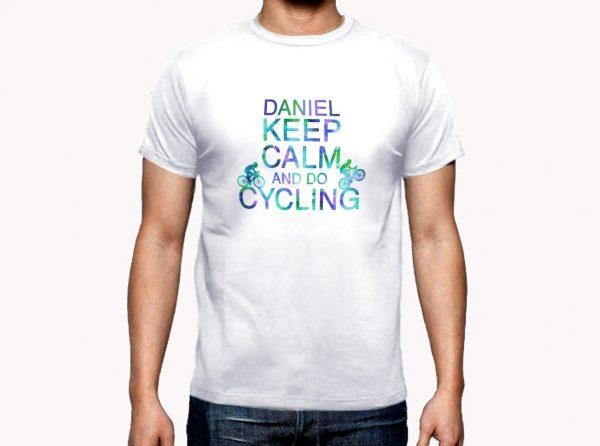 Camiseta Ciclo Keep Calm Hombre