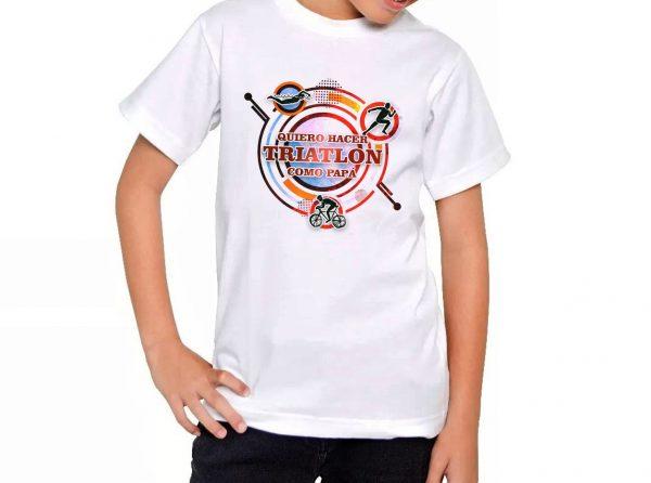 Camiseta Chico Triathlón como Papá Niñ@
