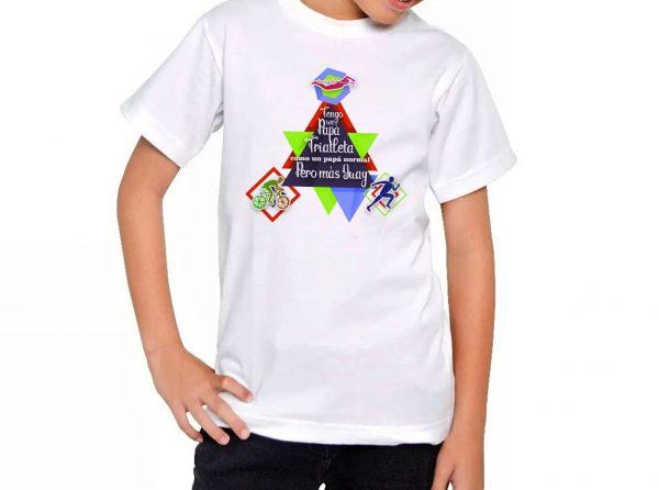 Camiseta Chico Triathlón como Papá guay